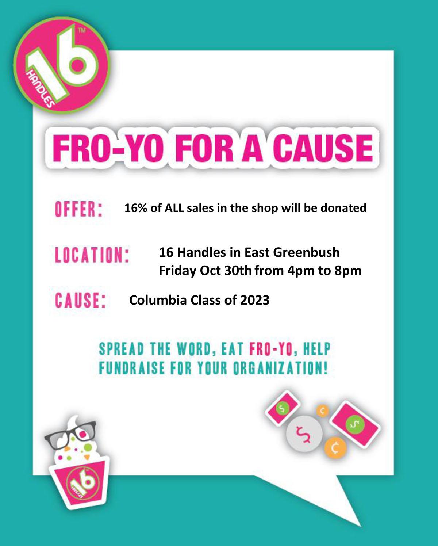 Froyo Fundraiser flyer
