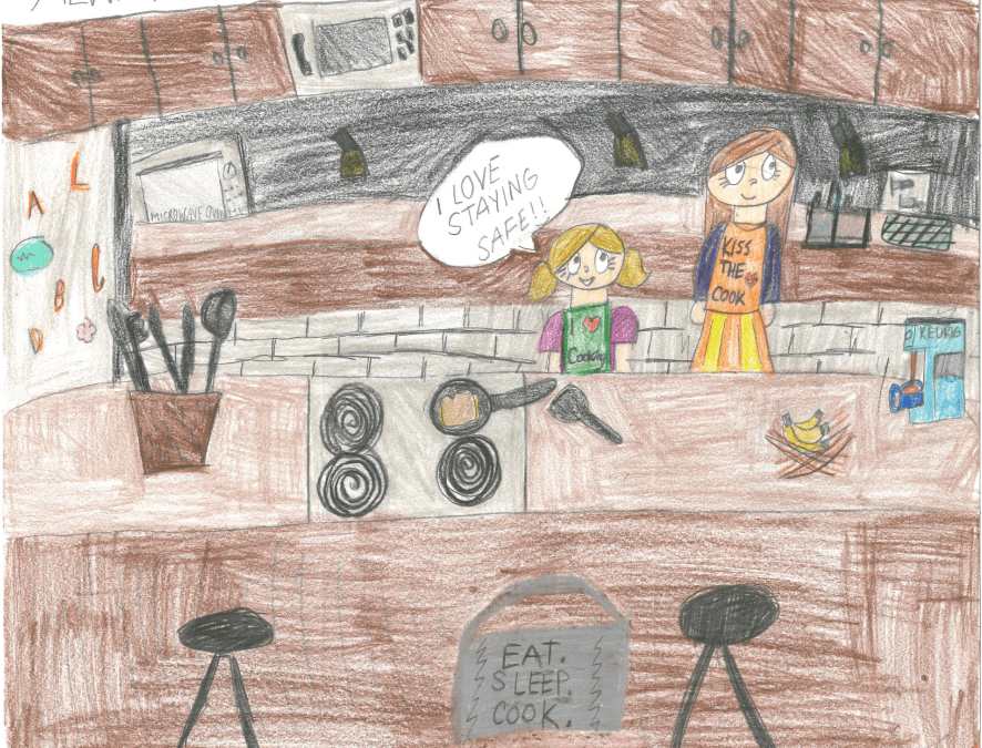 Four Students Win Prizes in CAP COM Fire Prevention Week Drawing Contest