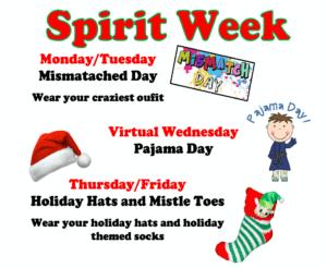 Genet Spirit Week flyer