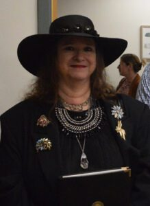 Susan Garrigan-Brooks at library dedication ceremony