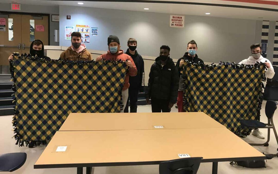 Columbia Students Make Blankets for St. Paul's Shelter