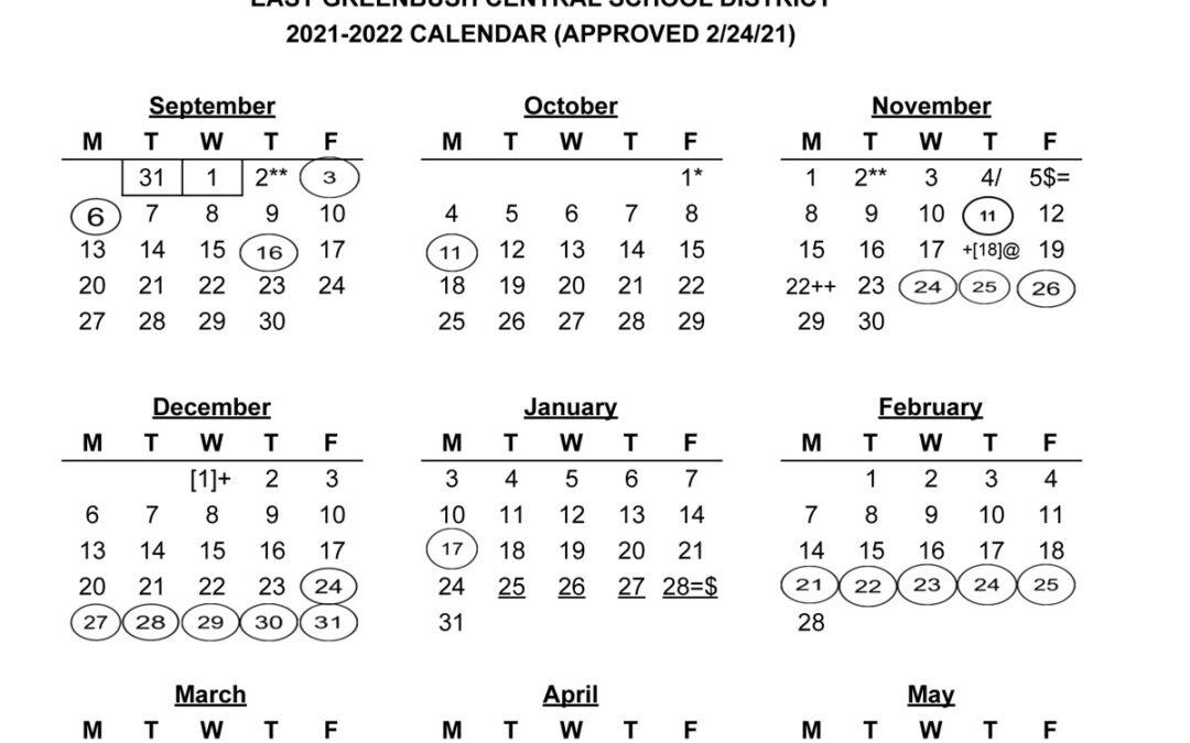2021-22 School Calendar is Now Available
