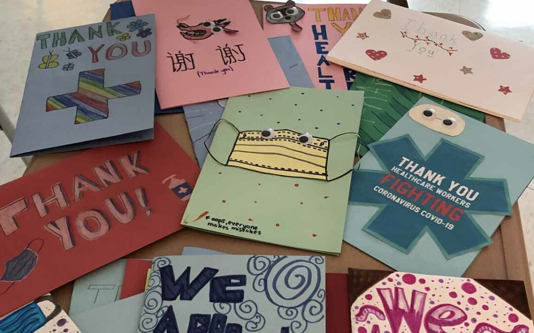 Goff Peer Leadership Sends Thank You Cards to Albany Med Respiratory Therapists