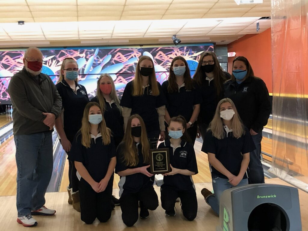 Columbia girls bowling Suburban Council champions