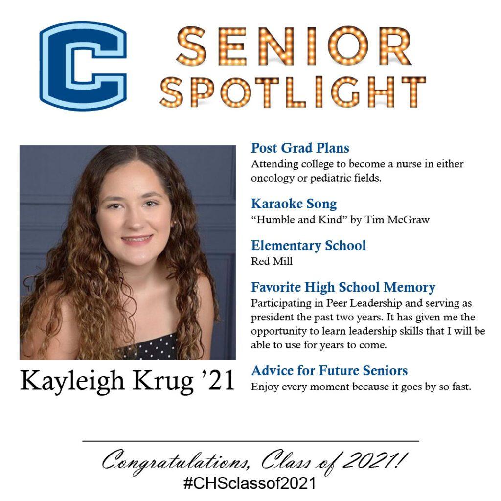 Kayleigh Krug senior spotlight