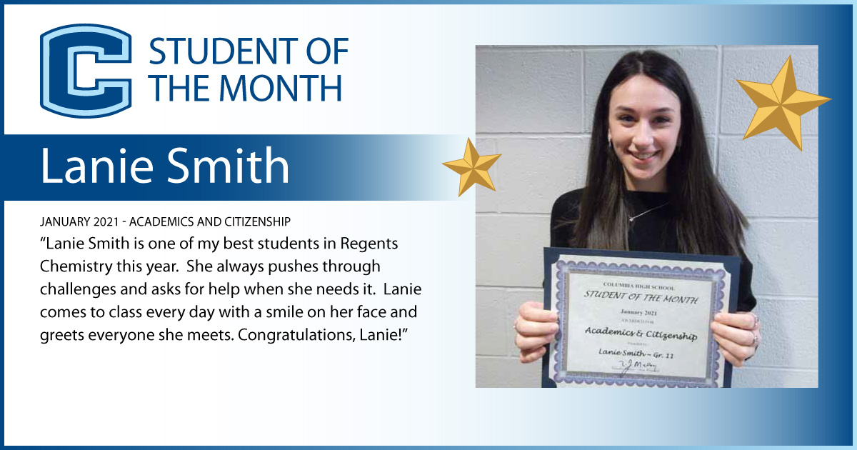 Lanie Smith - Student of the Month