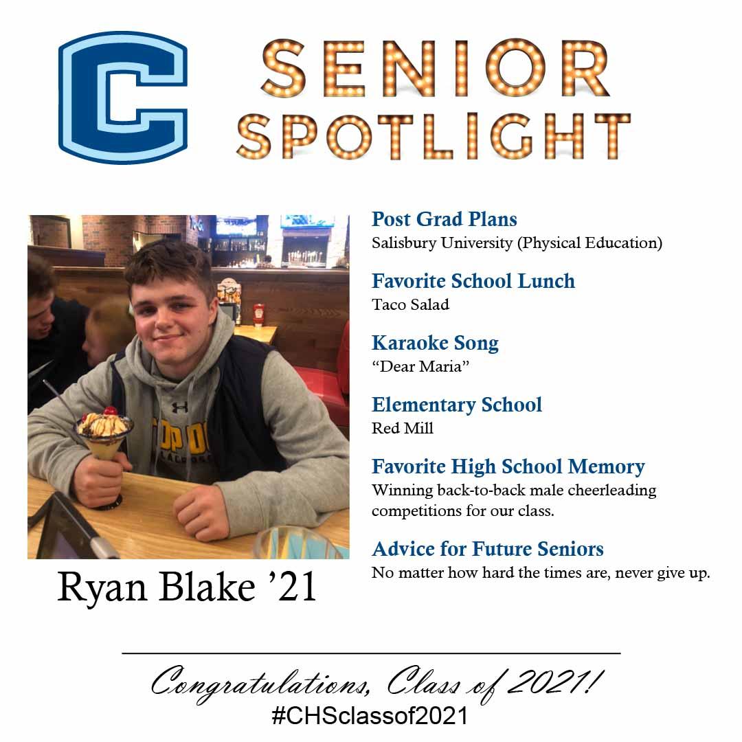 Ryan Blake senior spotlight