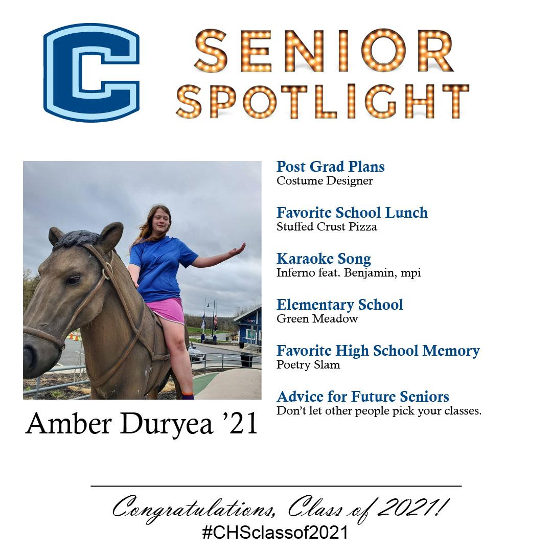 Amber Duryea senior spotlight