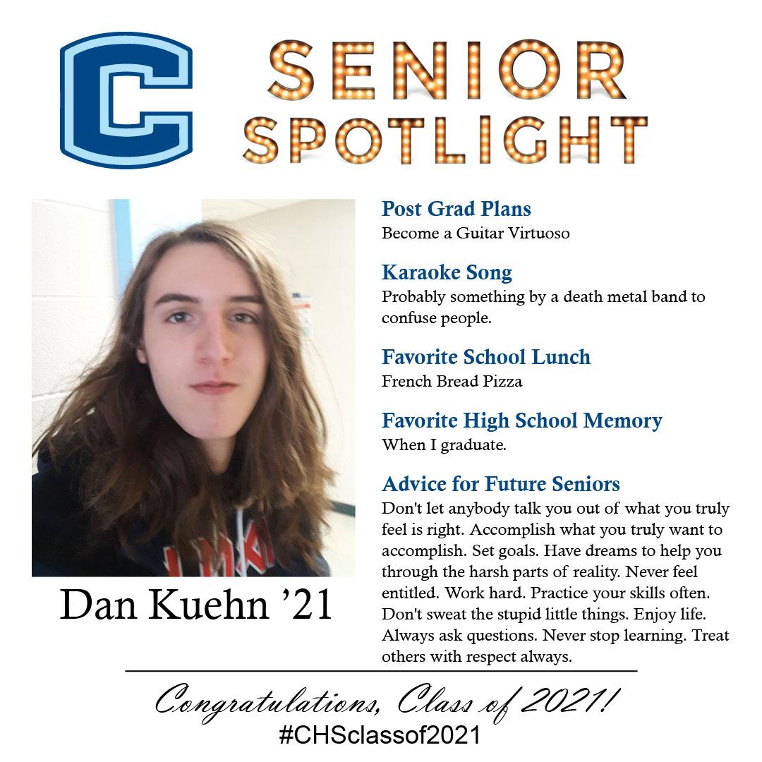 Dan Kuehn senior spotlight