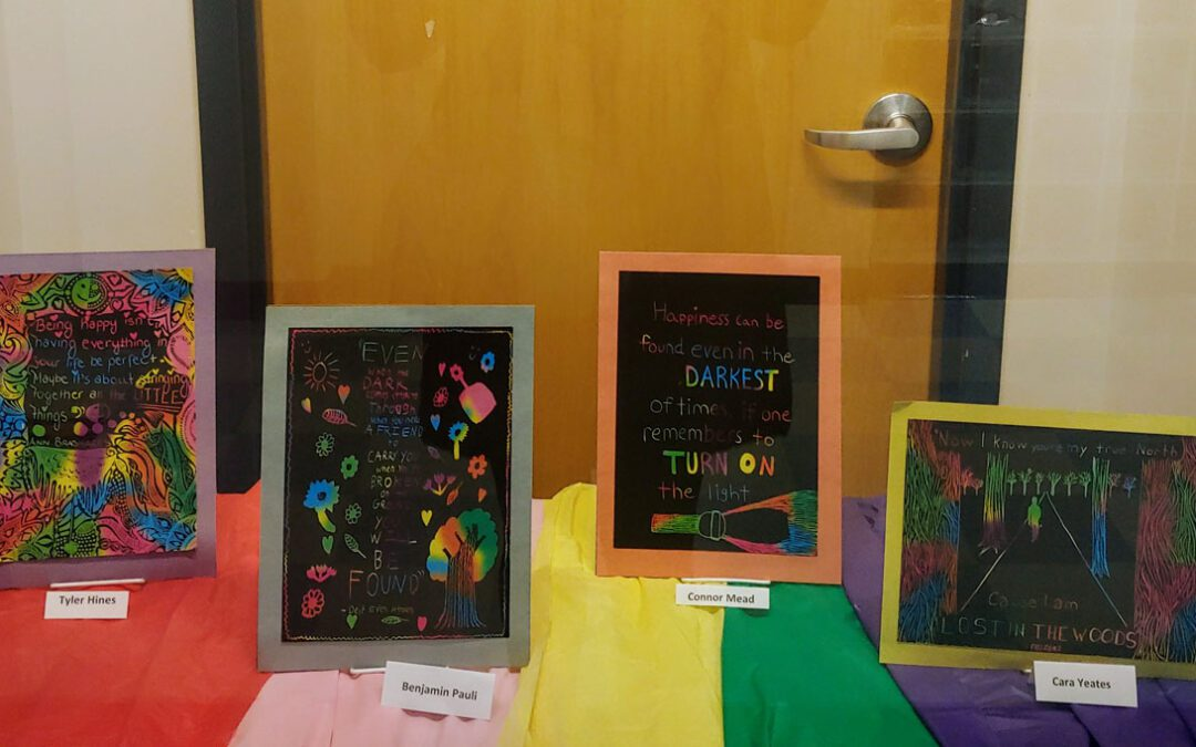 CHS Art Club Brightens School with Creative Displays