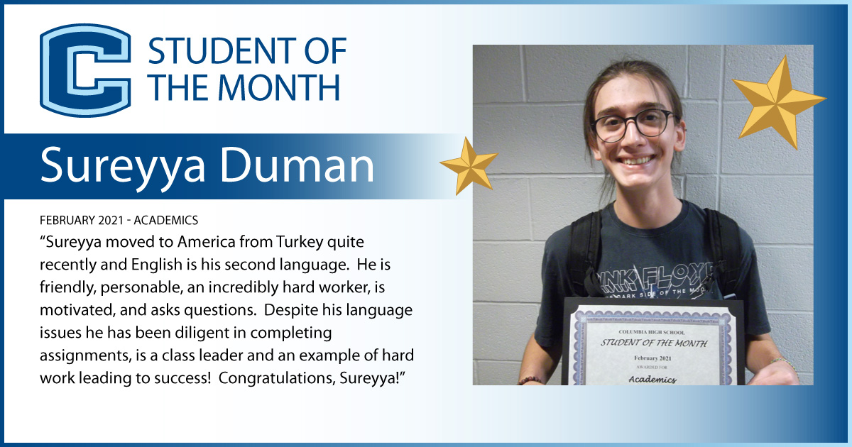 Sureyya Duman - Student of the Month