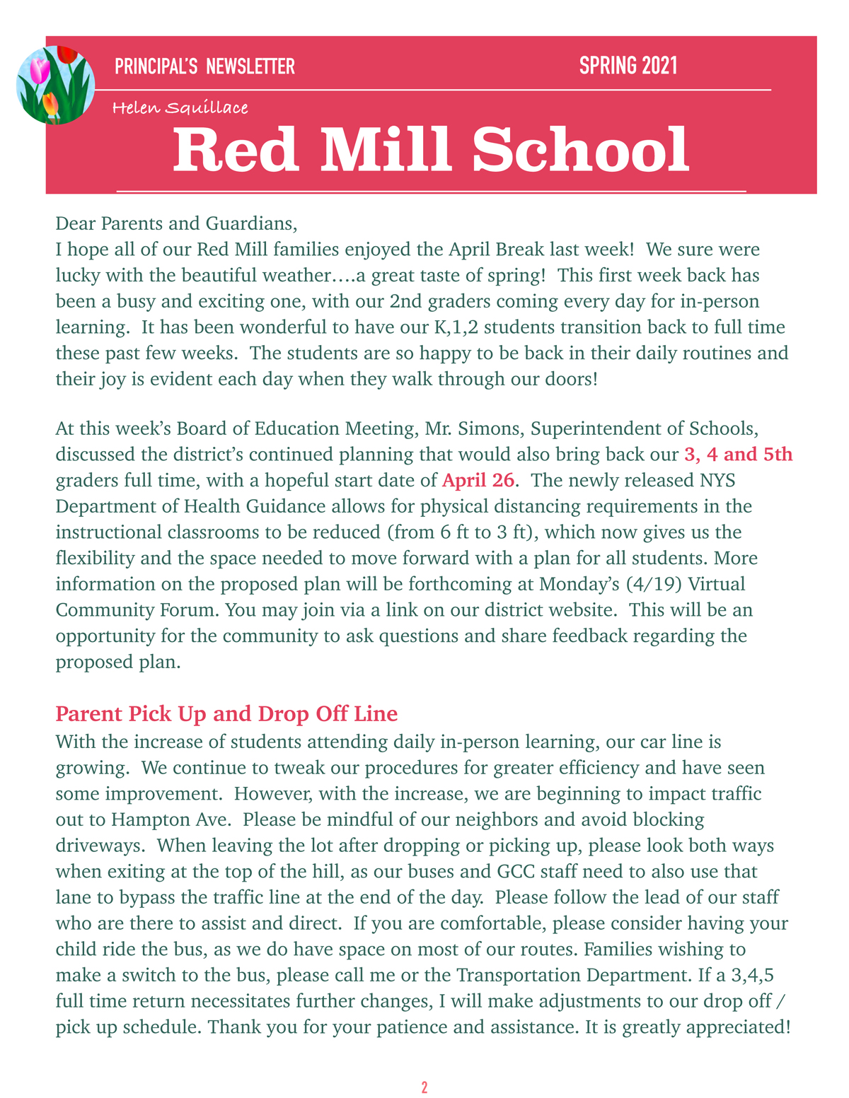 RM Spring Newsletter cover