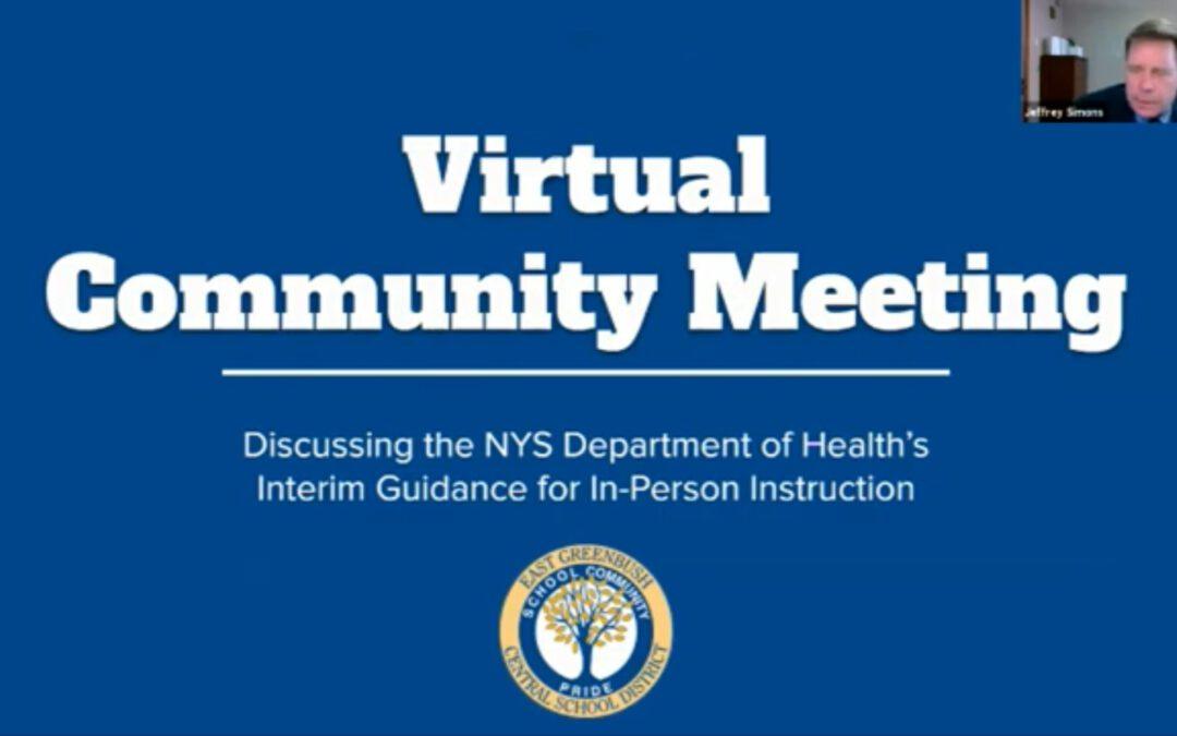 Watch: Virtual Community Meeting – April 19