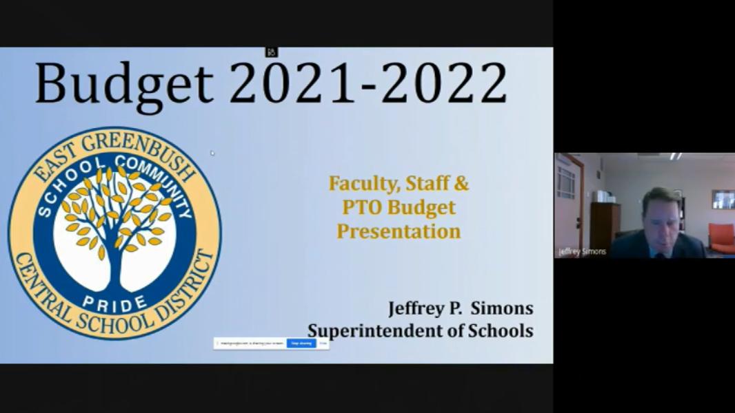 Video: PTO Budget Presentation – April 27