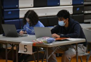 Students competing in Science Olympiad Regional Championships