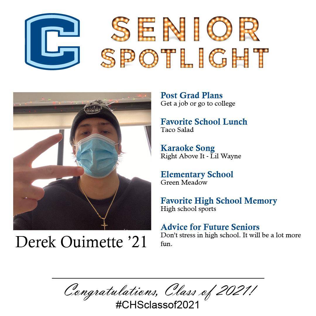 Derek Ouimette senior spotlight