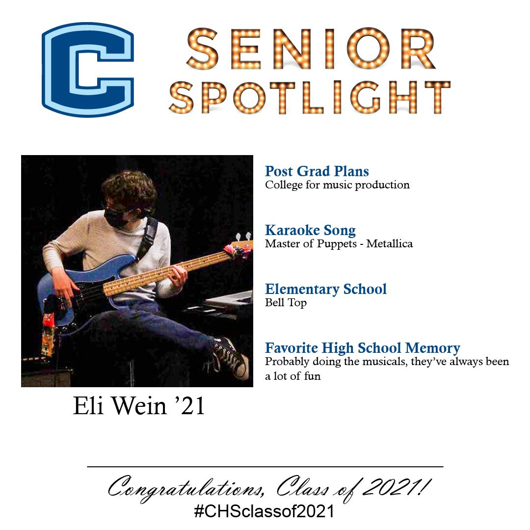 Eli Wein senior spotlight