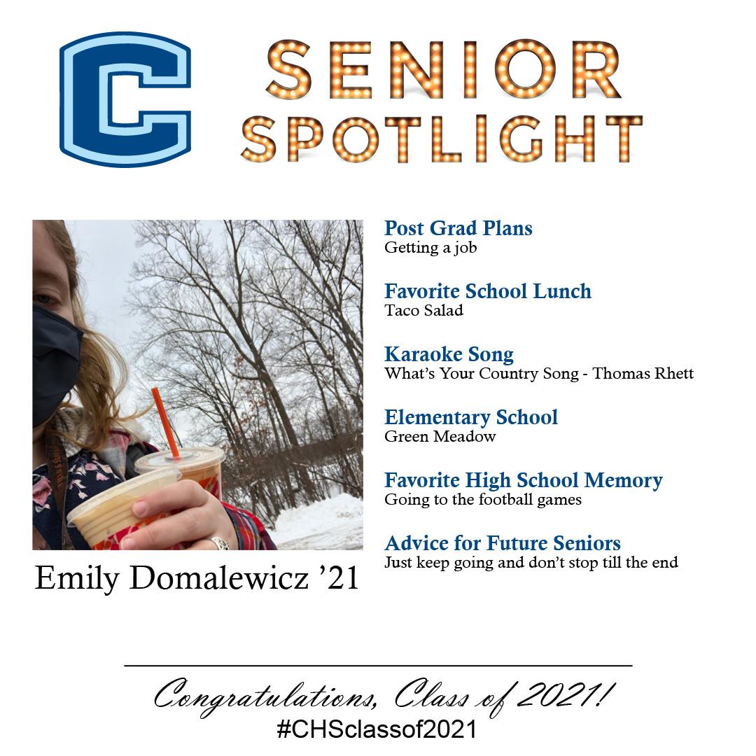 Emily Domalewicz senior spotlight