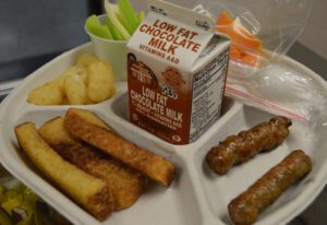 French toast sticks and sausage