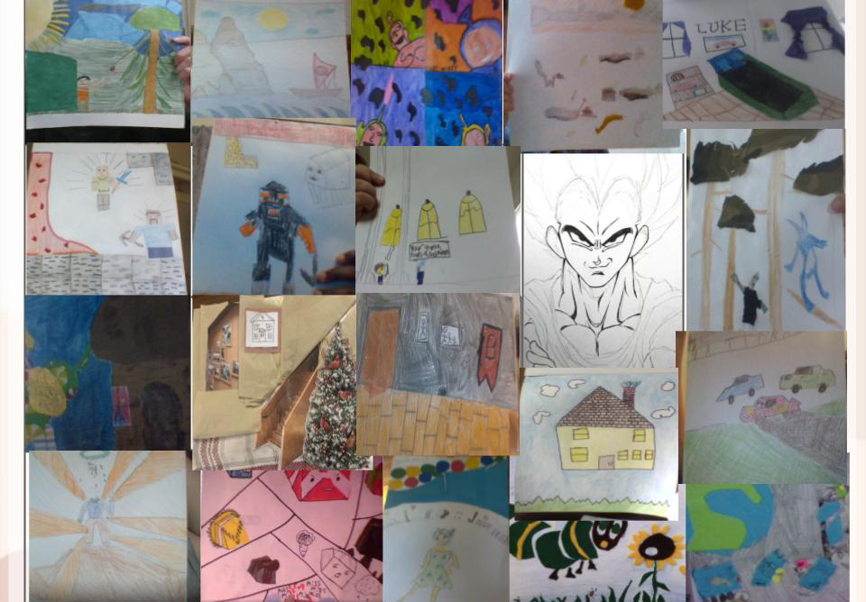 Story quilt created by 6th grade art students