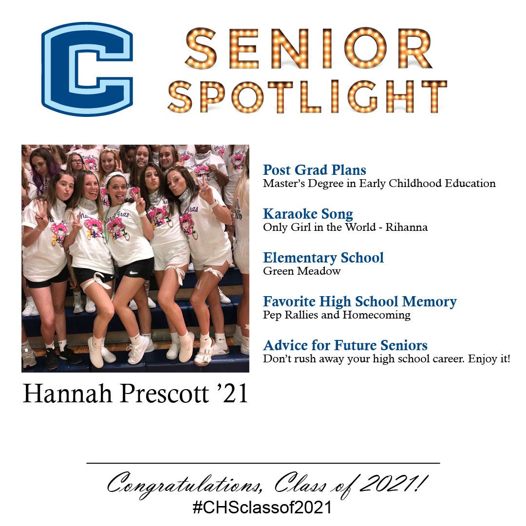 Hannah Prescott senior spotlight