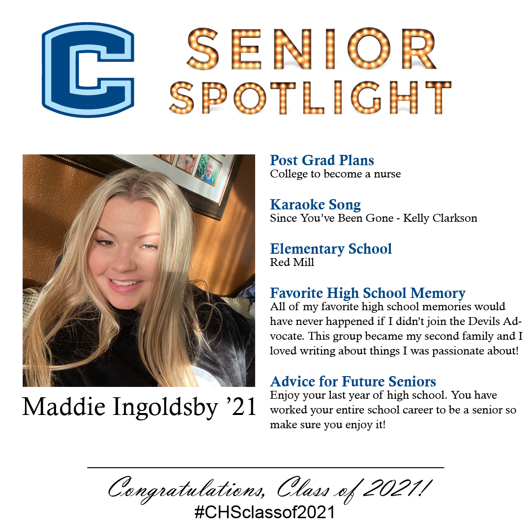 Maddie Ingoldsby senior spotlight