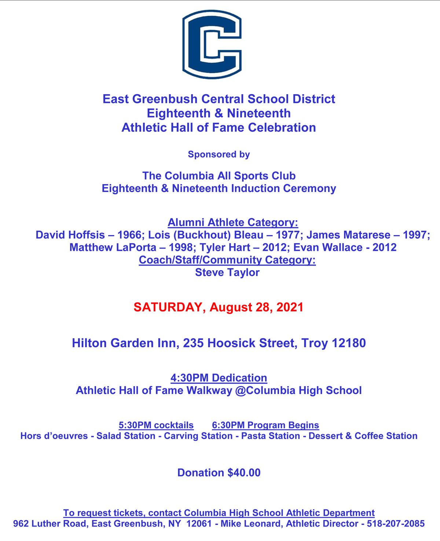 2020-2021 Athletic Hall of Fame Celebration