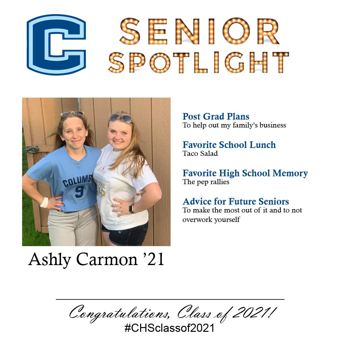 Ashly Carmon senior spotlight
