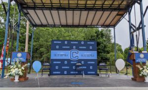 Columbia Graduation stage from June 2020