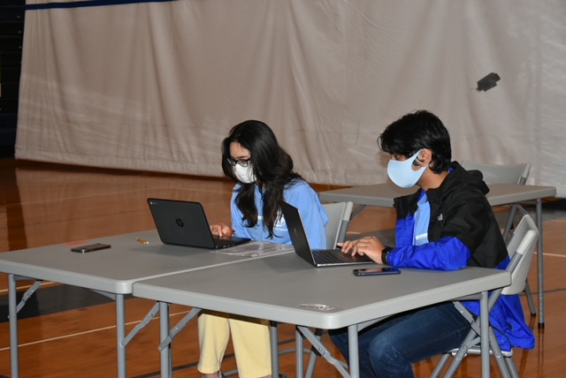 Students competing in virtual Science Olympiad competition