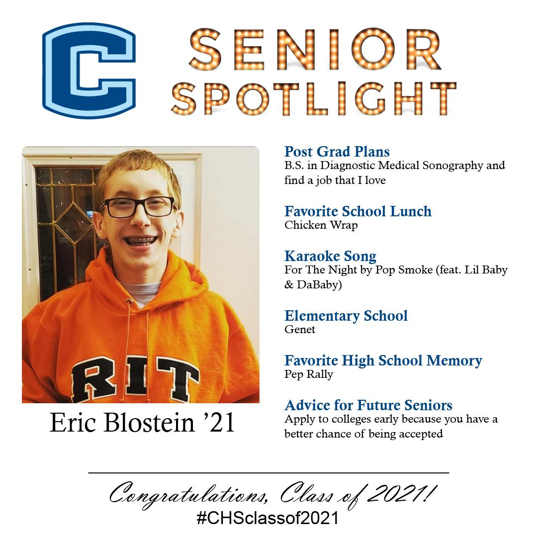 Eric Blostein senior spotlight