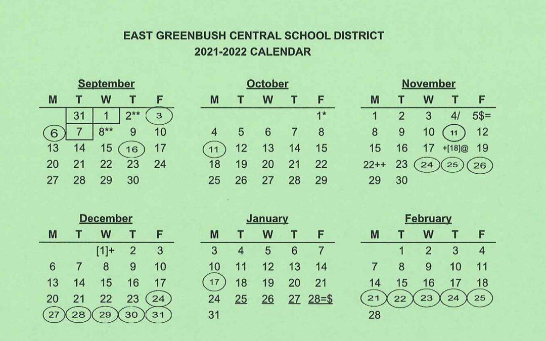 District Announces Changes to 2021-22 School Calendar