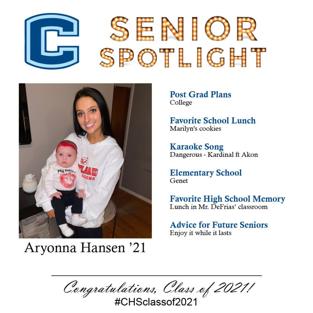 Aryonna Hansen senior spotlight