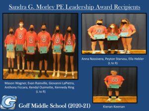 Goff PE Leadership Awards 2021