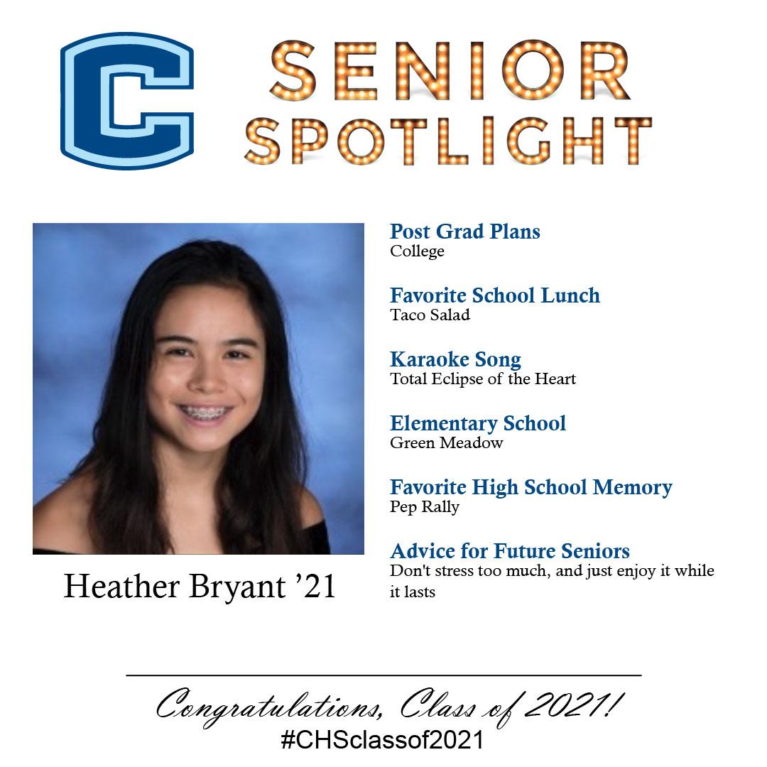 Heather Bryant senior spotlight