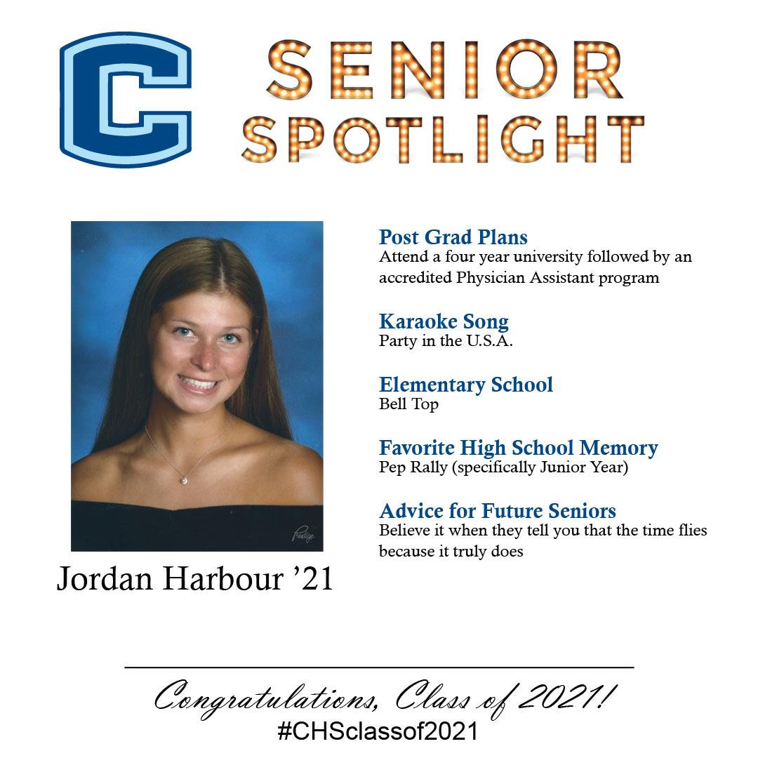 Jordan Harbour senior spotlight