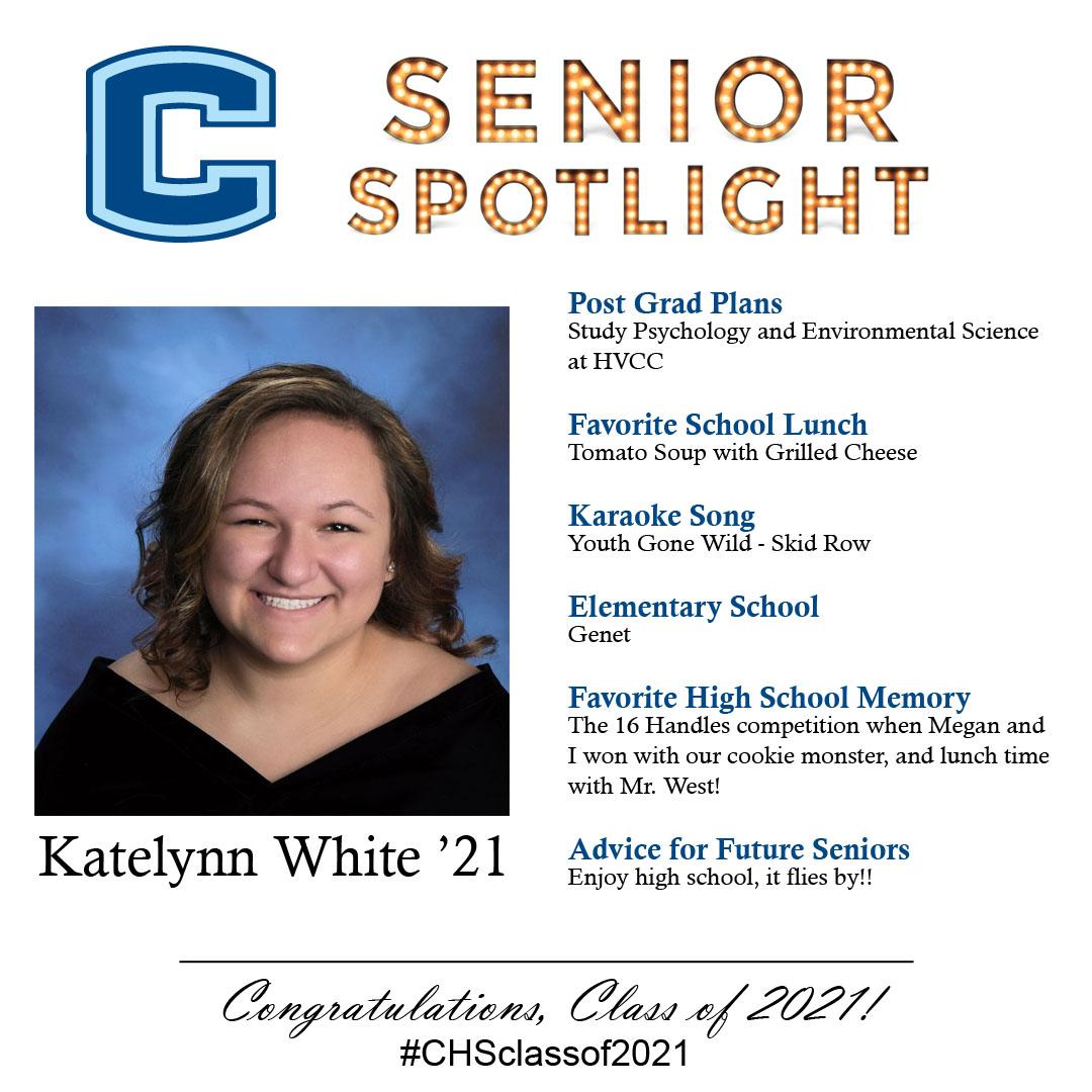 Katelynn White senior spotlight