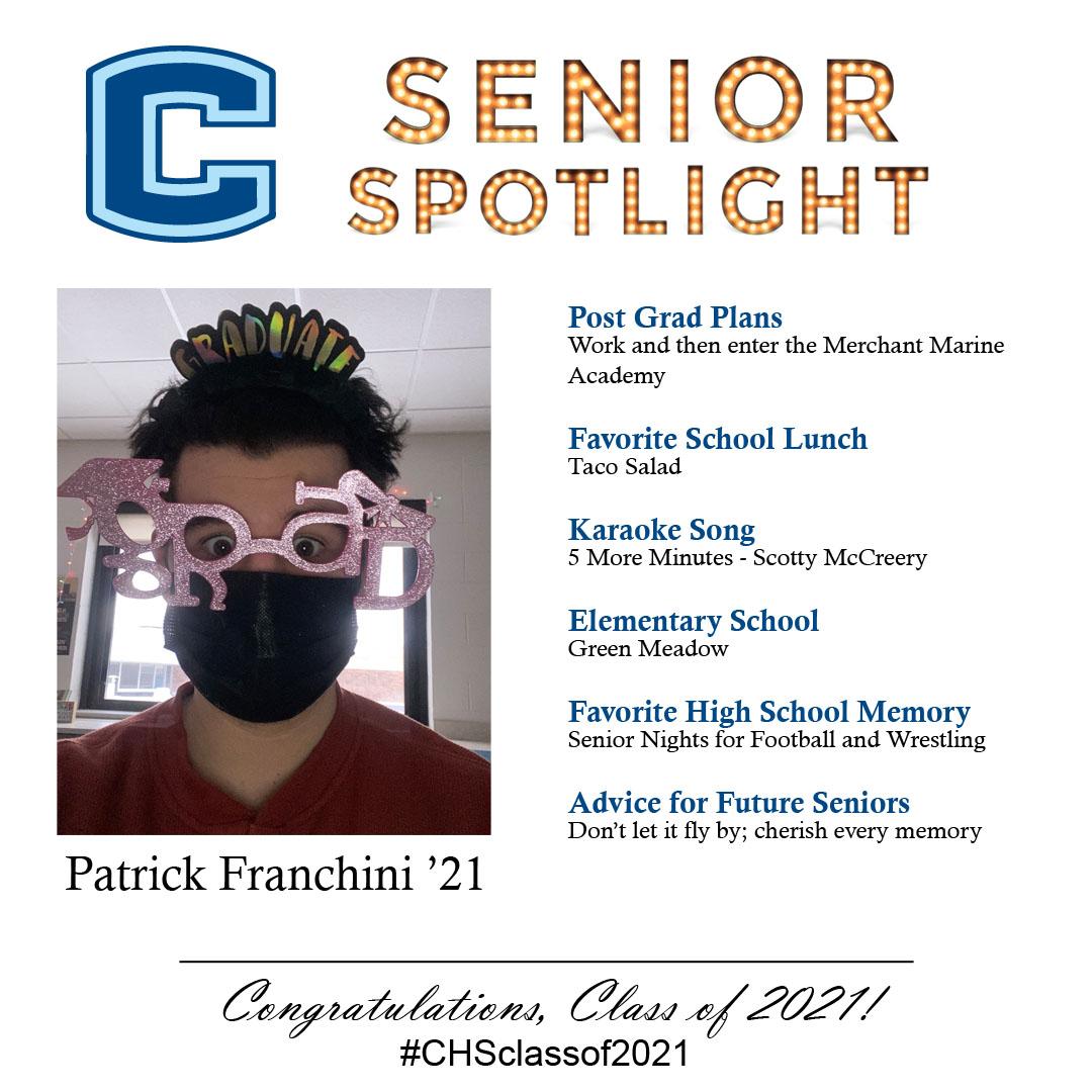 Patrick Franchini senior spotlight