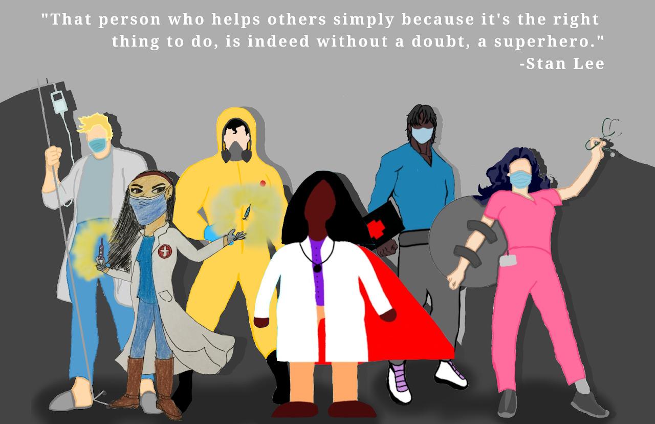 Superhero Health Care Worker Poster