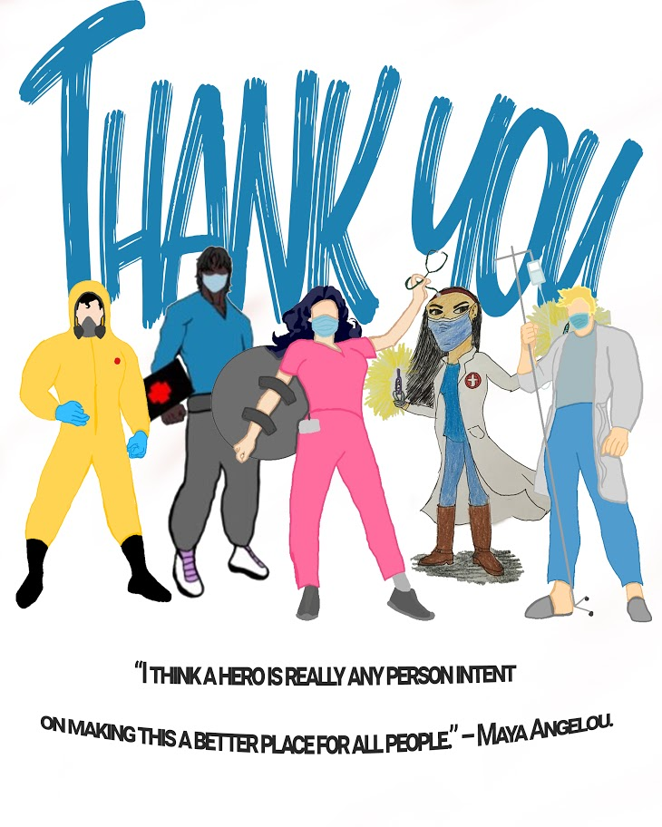 Thank You Health Care Workers Poster