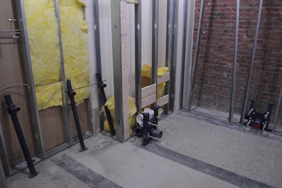 New bathroom at Genet under construction