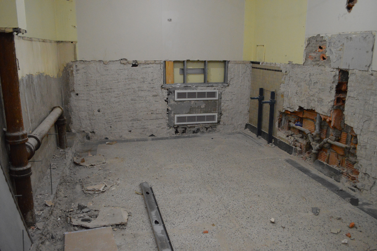 Renovated bathroom at Genet