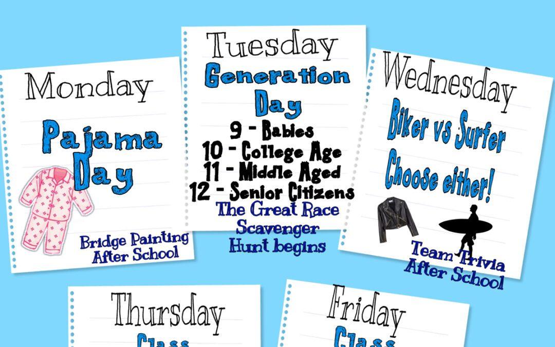 Columbia Spirit Week Schedule