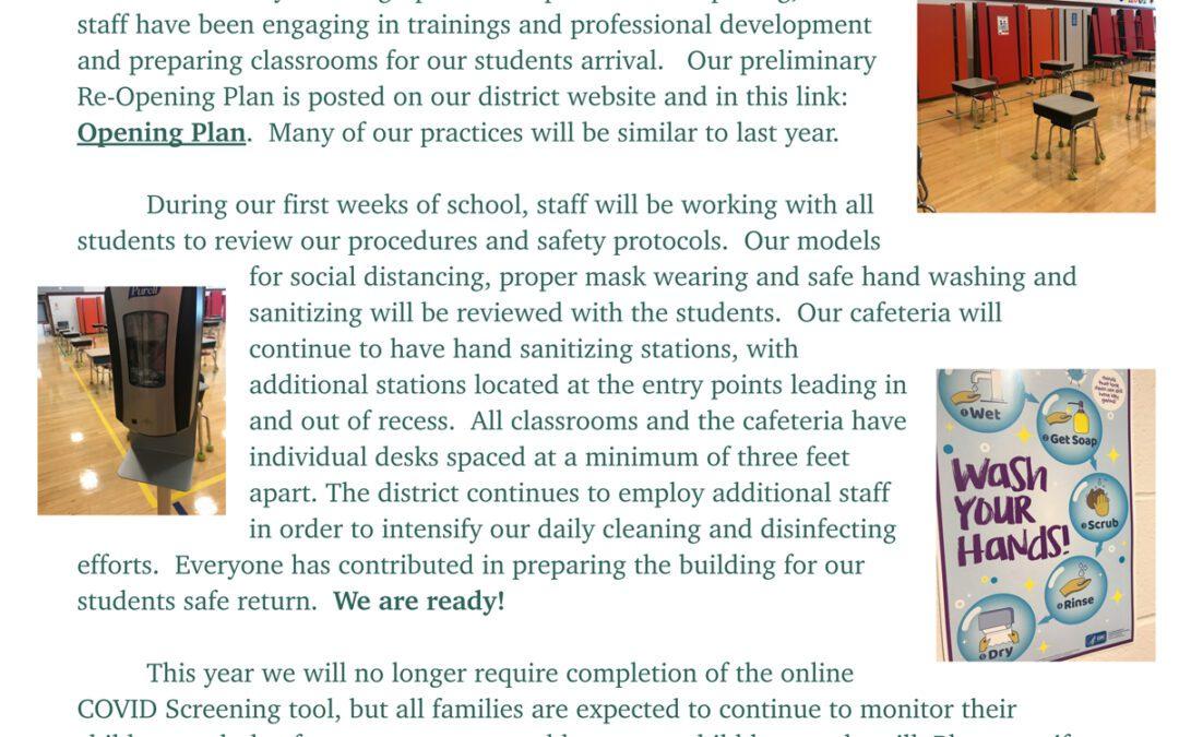 Red Mill Principal's Newsletter – September 2021