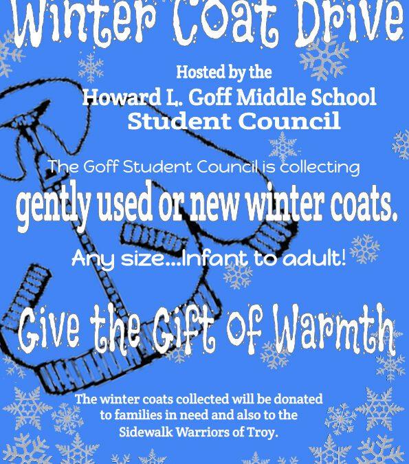 Goff Student Council Begins Winter Coat Drive