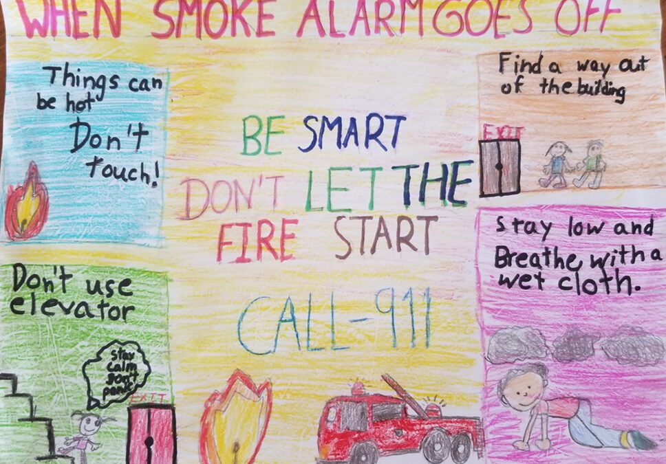 Elementary Students Win CAP COM Fire Prevention Drawing Contest