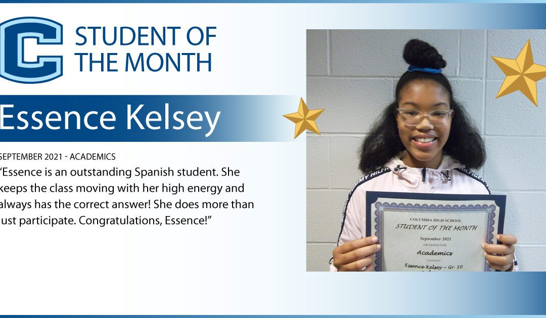 Columbia Announces September Students of the Month