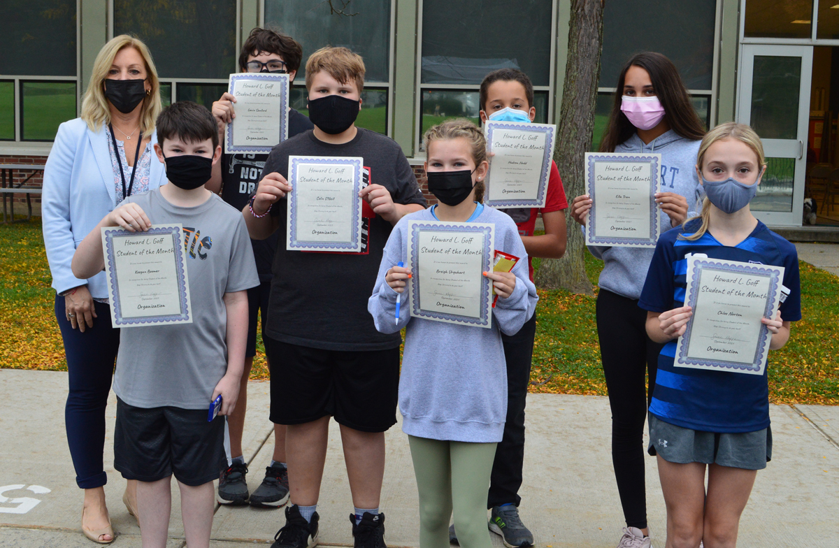 Goff 6th Grade Students of the Month - September 2021 web