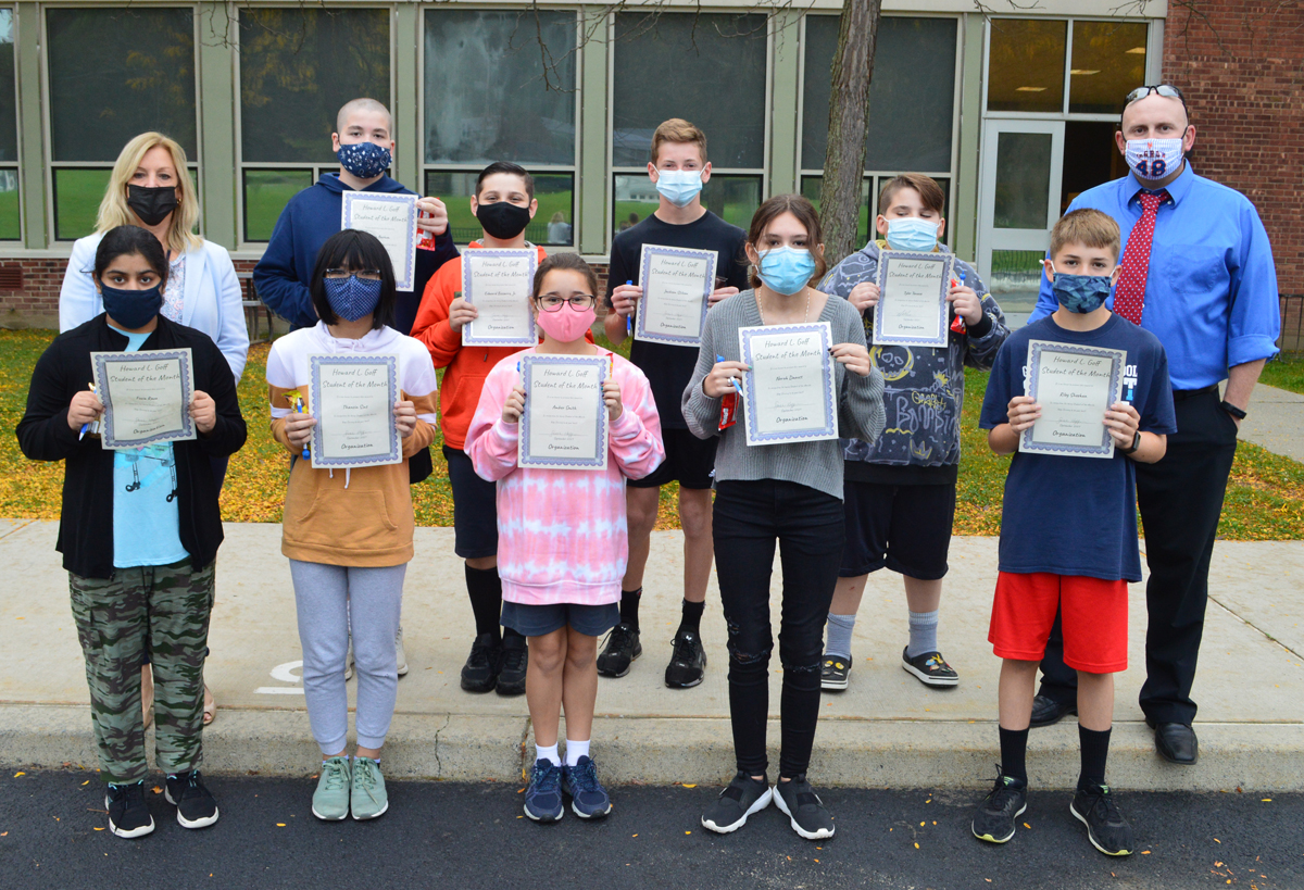 Goff 7th Grade Students of the Month - September 2021 web