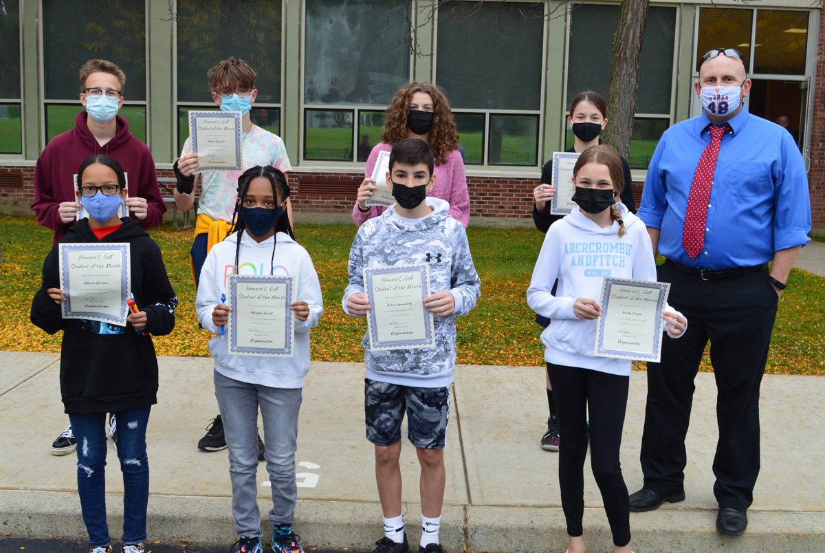 Goff 8th Grade Students of the Month - September 2021 web